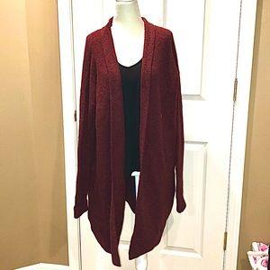 NWT Ann Taylor Loft maroon long cardigan large